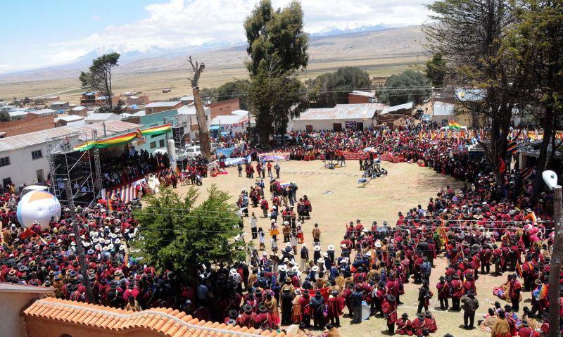 Der Versammlungsplatz in Peñas