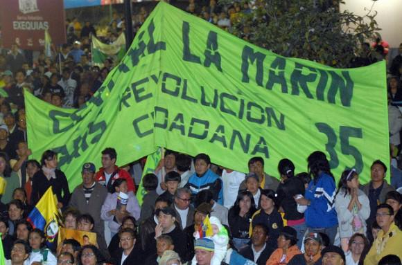 "Verteidigung der ""Bürgerrevolution"" (Revolución ciudadana)."