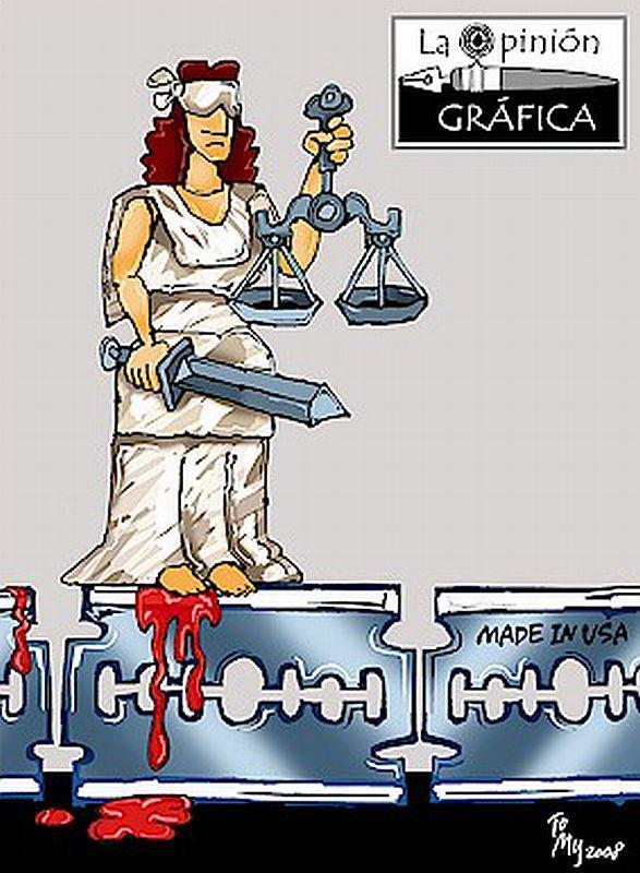 """Die Gerechtigkeit holt sich blutige Füsse auf der Rasierklinge """"made in USA"""""""