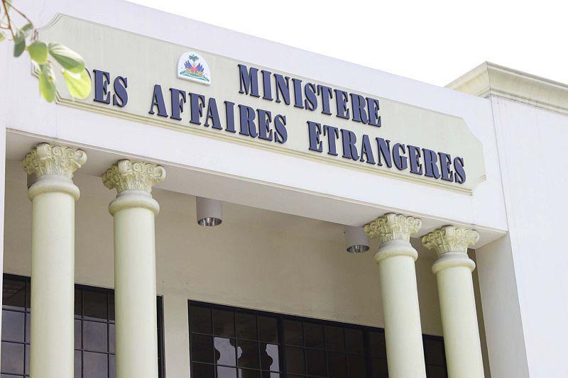Das Außenministerium in Port-au-Prince ...