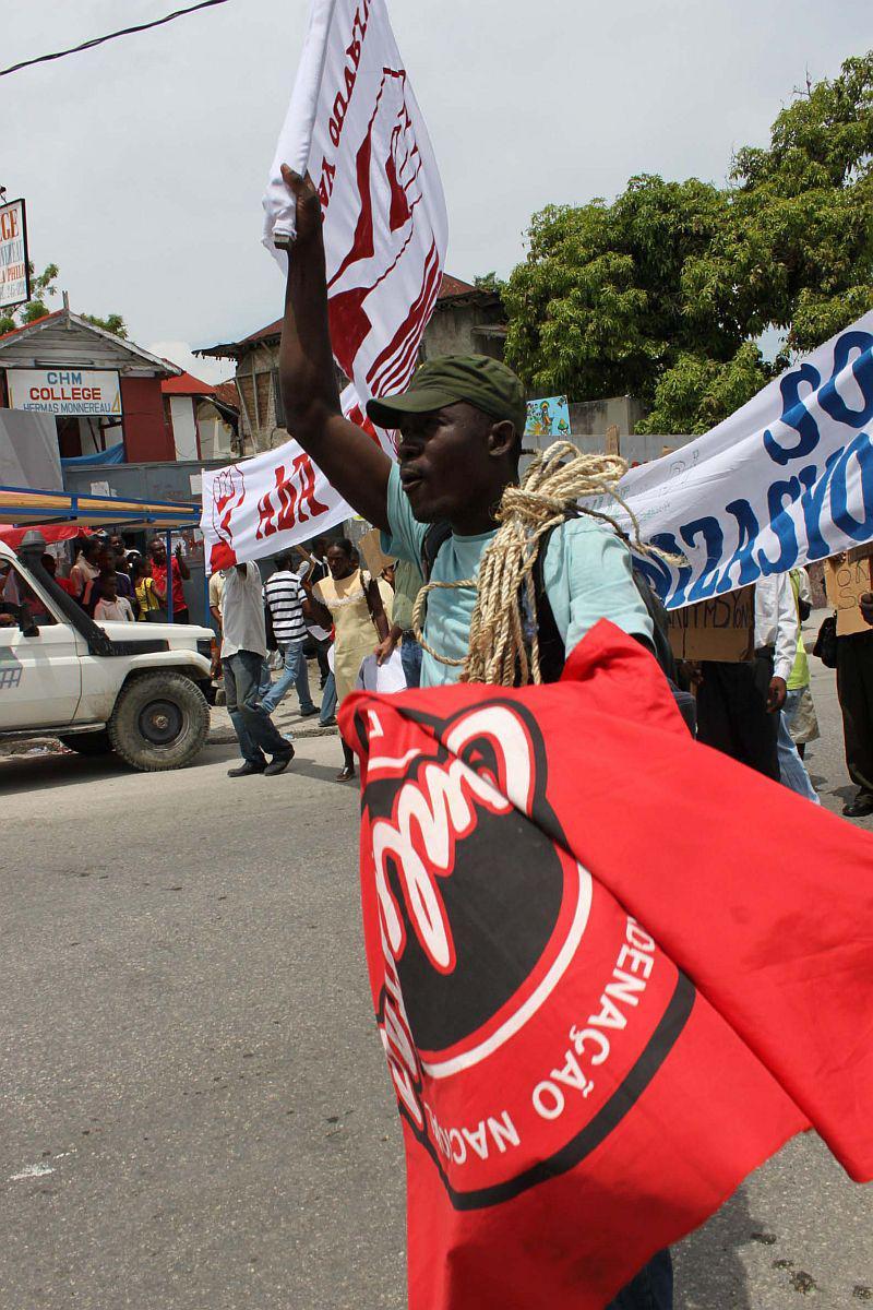 ...die sich vor allem gegen die UN-Mission MINUSTAH wandten...
