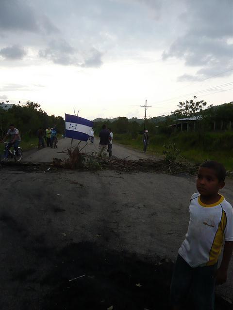 Straßenblockade in der Gemeinde Guadalupe Carney