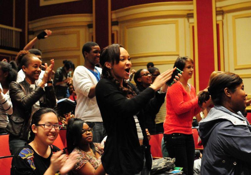 Begeistertes Publikum in Washington