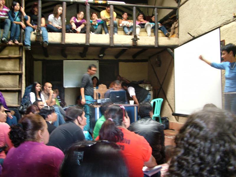 Versammlung zu einem der workshops