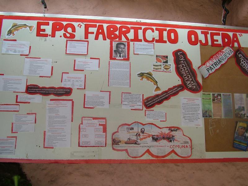 Der Arbeitsplan der Produktionseinheit Fabricio Ojeda