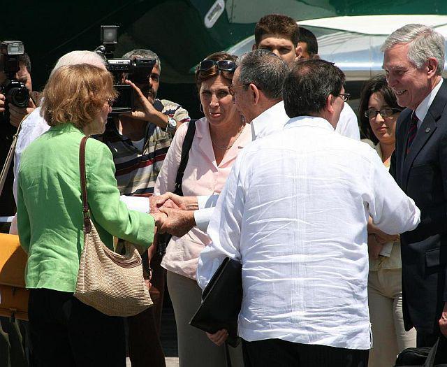 Verabschiedung James und Rosalynn Carters auf dem Internationalen Flughafen