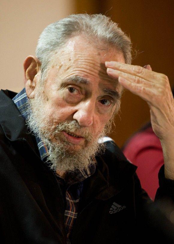 Fidel Castro bei der Buchvorstellung