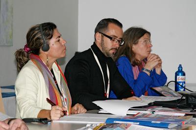 Amerika21.de-Redakteur Harald Neuber moderierte eine der Debatten zu Medienpolitik.