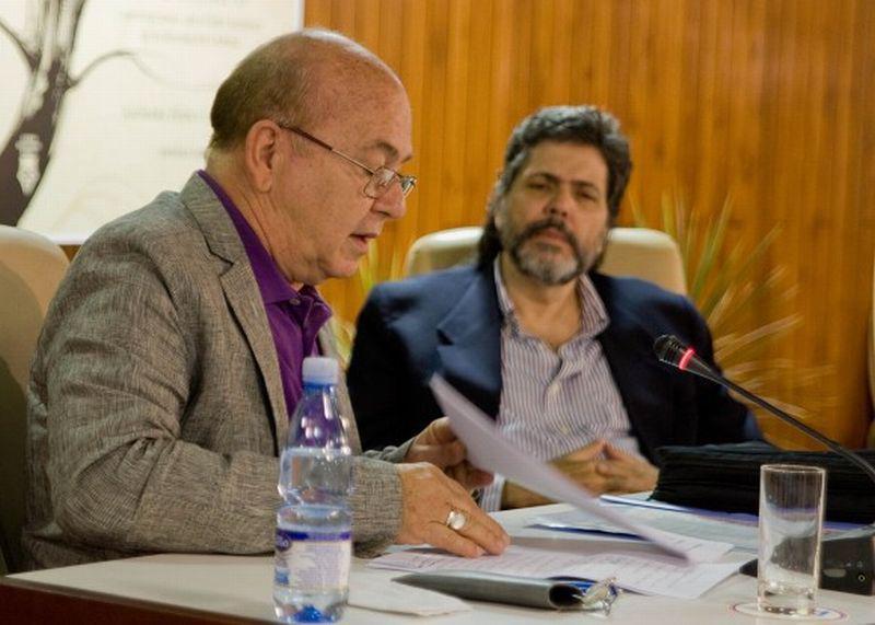 Miguel Barnet und Abel Prieto