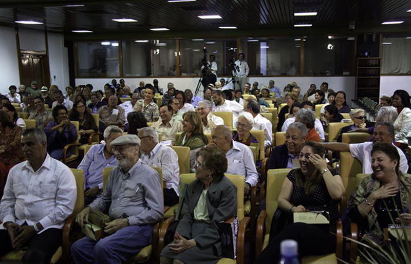 Gute Laune im Publikum