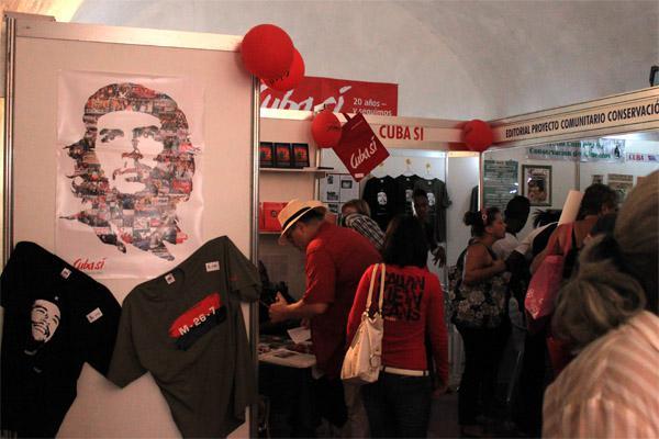 Der Stand der deutschen Solidaritätsorganisation Cuba Sí