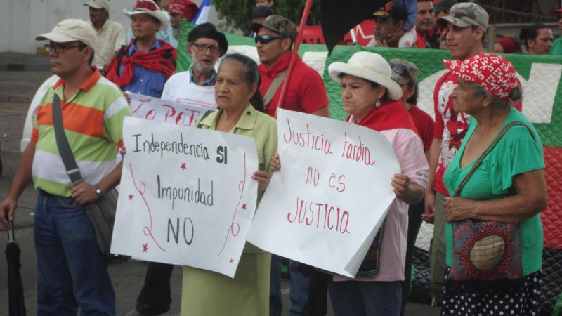 Auch die vorherrschende Straflosigkeit in Honduras wurde auf der Demonstration thematisiert.
