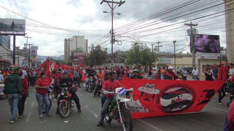 Motorradfahrer im Widerstand