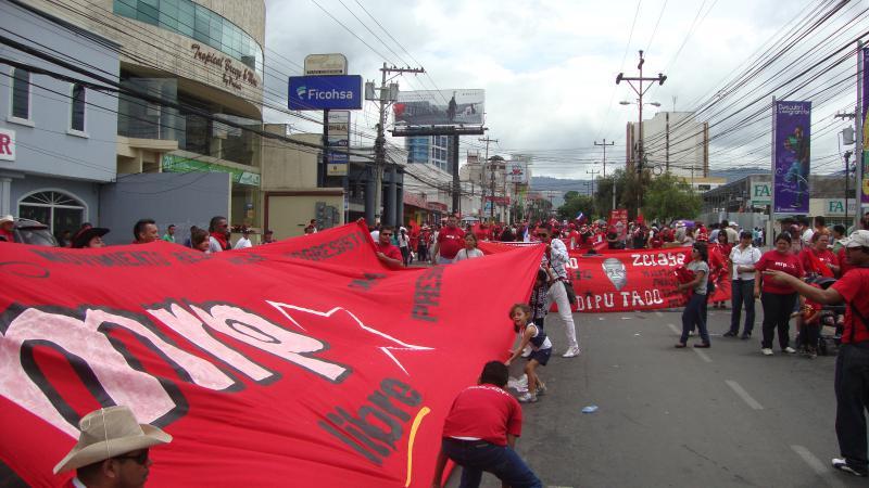 Transparent der MRP, einer der parteiinternen Strömungen in Libre