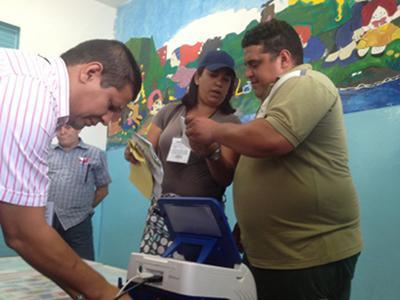 Einrichtung der Wahlbüros