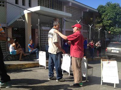 Vor einem Wahllokal im Bundesstaat Mérida