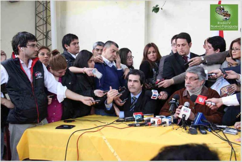 Pressekonferenz von Präsident Fernando Lugo am vergangenen Montag