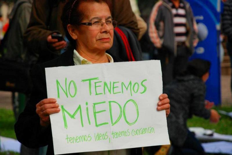 """Eine Demonstrantin in Asunción: """"Wir haben keine Angst, wir haben Ideen, wir haben Bewußtsein"""""""