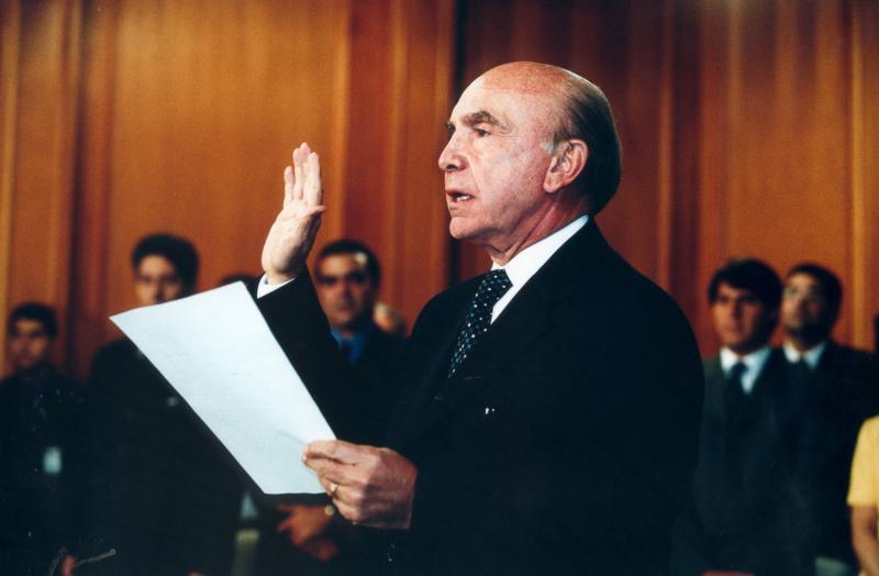 Pedro Carmona beim Putsch 2002