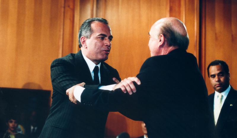 Manuel Rosales und Pedro Carmona