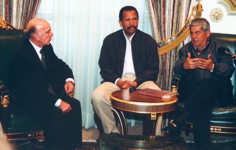 Pedro Carmona (l.) und Carlos Ortega (r.): Beide befinden sich heute im Exil