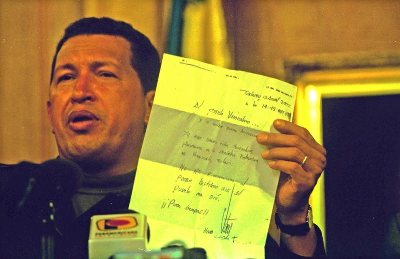 Chávez schildert die Stunden des Putsches und seiner Entführung