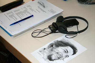 Zum Equipment der Gäste aus über 30 Staaten gehörten auch Kopfhörer für die Übersetzung