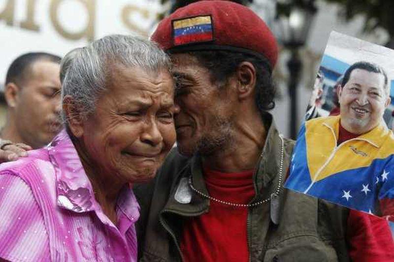 Trauer in Caracas