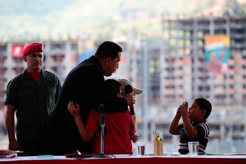 """Die letzte große """"Misión"""" von Hugo Chávez: Das Wohnungsbauprogramm, mit dem 2 Millionen Wohnungen gebaut werden sollen."""