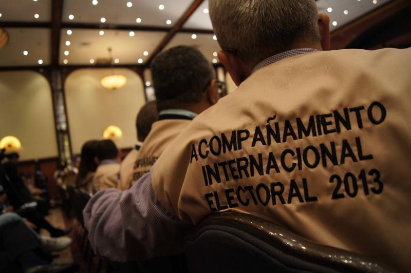 Internationale Wahlbegleiter der Präsidentschaftswahlen 2013 in Venezula.