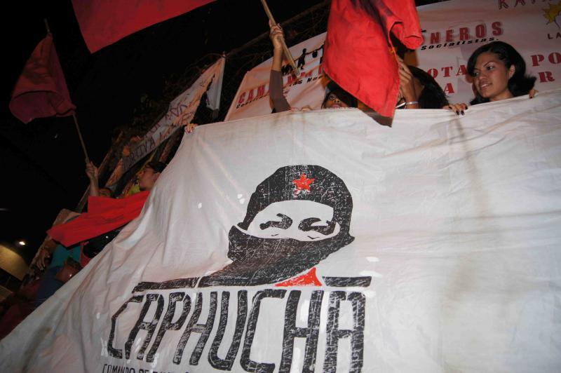 Mit dabei Campagna Popular Hugo Chávez (Capucha), eine Zusammenschluss aus 40 Basisgruppen und politischen Organisationen.