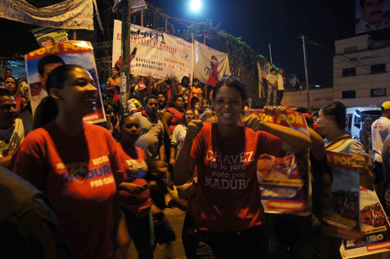 """""""Chávez, te lo juro, voto por Maduro"""" (Chávez, ich schwöre dir, ich stimme für Maduro)"""