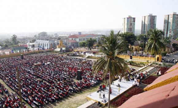 Der Revolutionsplatz in der ostkubanischen Metropole war gefüllt