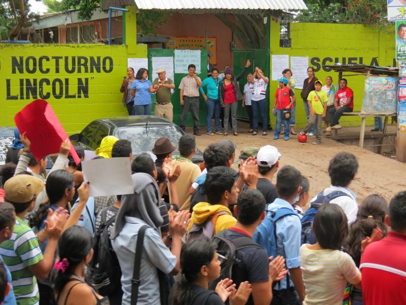 Demonstrationszug durch Tegucigalpa