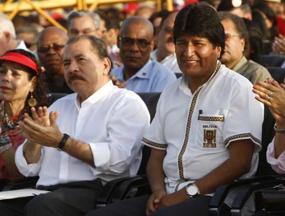 Daniel Ortega und Evo Morales, die Präsidenten von Nicaragua und Bolivien