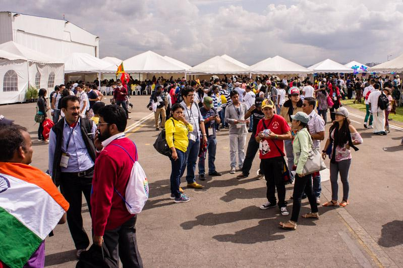 Die Weltfestspiele finden auf dem Gelände des ehemaligen Flughafens in Quito statt