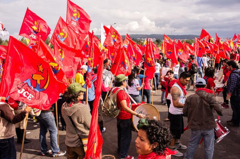 Ebenfalls für die Vorbereitung der Weltfestspiele verantwortlich: Die Kommunistische Jugend Ecuadors (JCE)