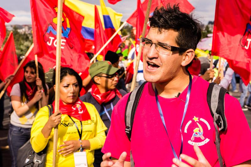 Der Parlamentsabgeordnete Diego Vintimilla von der JCE im Interview