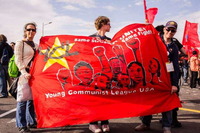Delegierte der Youth Communist League USA