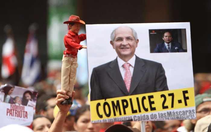 """Komplize"" des 27. Februar: Der rechtsgerichtete Politiker Antonio Ledezma, aktuell Bürgermeister von Groß-Caracas (Alcaldía Mayor)"