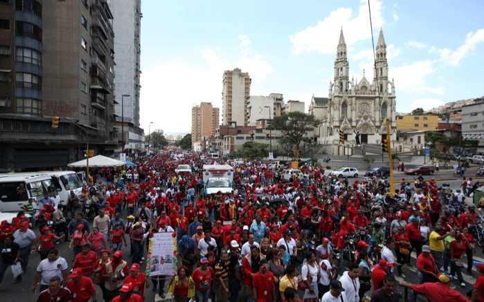 Tausende Menschen zogen durch das Zentrum von Caracas