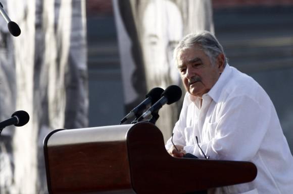 Uruguays Präsident José Mujica - er war bereits zuvor zum Staatsbesuch in Kuba eingetroffen