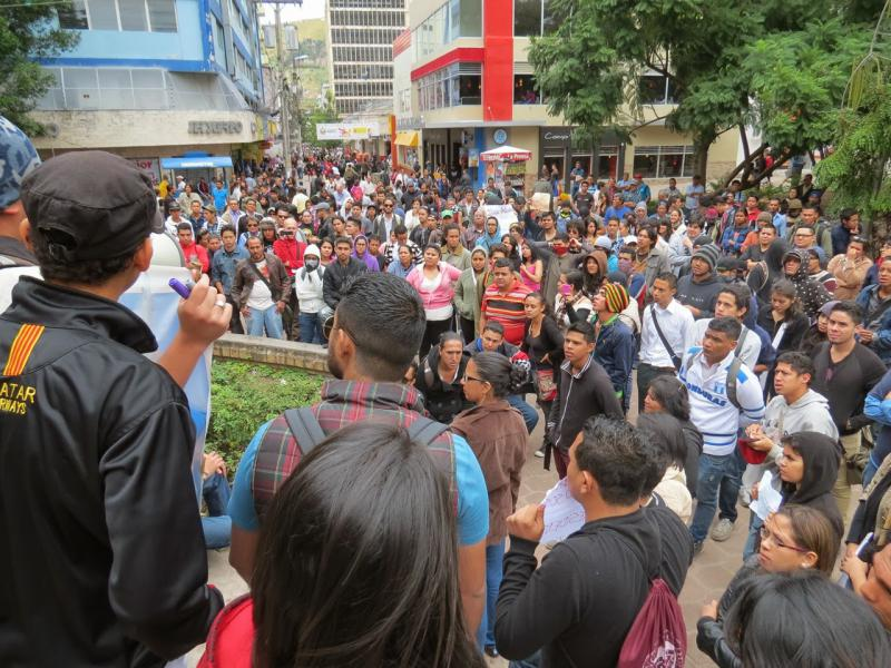 Kundgebung im Parque Central in Tegucigalpa