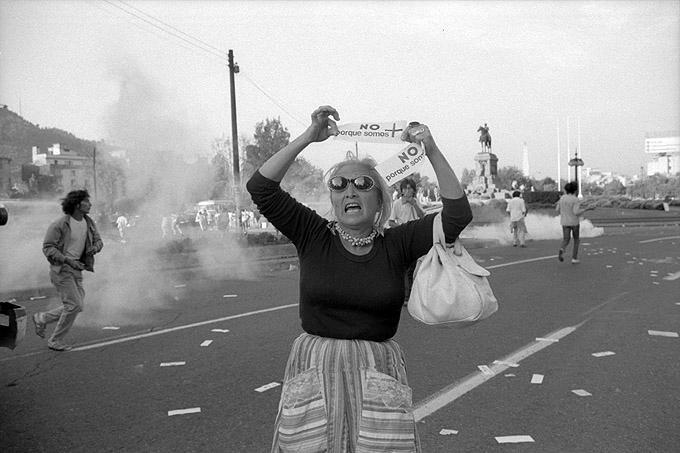 Internationaler Frauentag - 8. März 1987 im Viertel Plaza Italia in Santiago