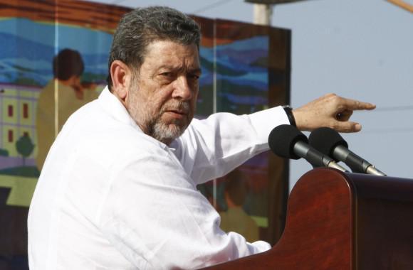 Der Ministerpräsident von San Vicente und den Grenadinen, Ralph Gonsalves