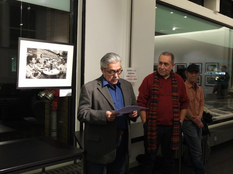 Santiago Oyarzo bei seiner Ansprache
