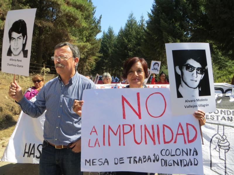 """Auf dem Transparent: """"Nein zur Straflosigkeit"""""""