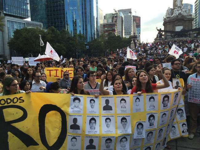 Mehrere tausend Menschen waren in Mexiko-Stadt auf der Straße