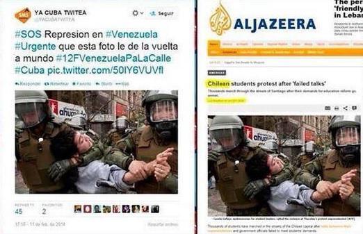 Diese zwei Polizisten behandeln einen Demonstranten äußerst unsanft - in Chile