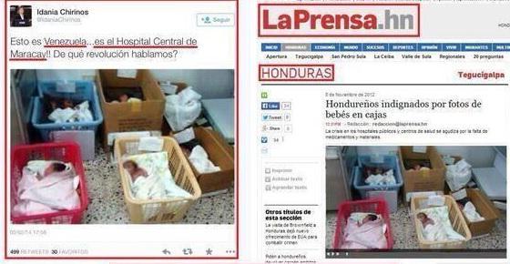 Dieses Bild soll den Notstand in venezolanischen Krankenhäusern verdeutlichen. Allerdings wurde es in Honduras aufgenommen